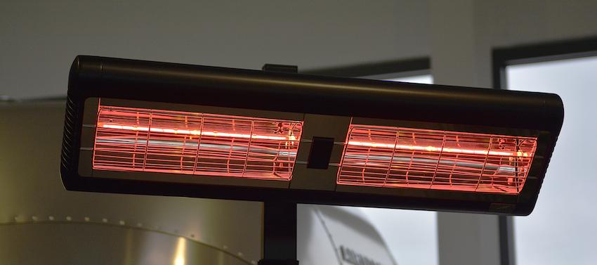 Heizstrahler rotes Licht
