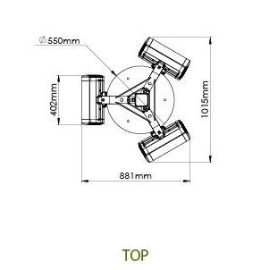 Technische Zeichnung TANSUN freihstehende Wärmestrahler