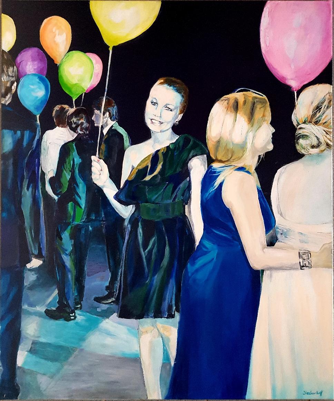 la rêverie,  120 x 100, Acryl auf Leinwand