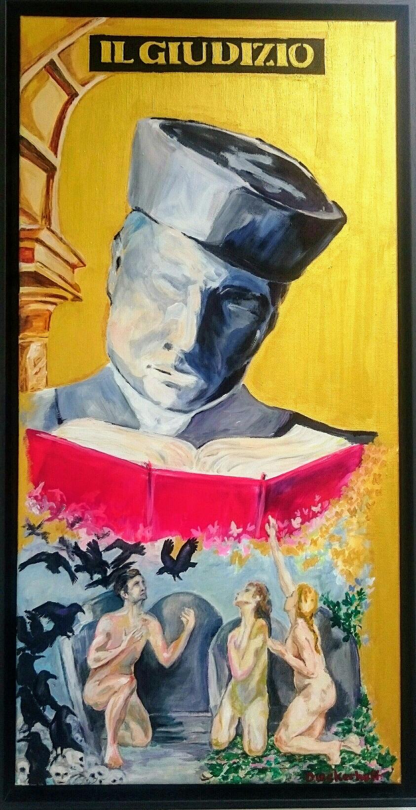 IL GIUDIZIO, 80 x 40 cm, Acryl auf Leinwand
