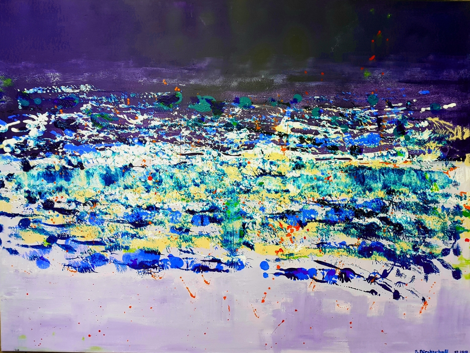 L'Origine, 100 x 120 cm, Acryl auf Leinwand