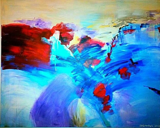 Bluemarine, 80 x 100 cm, Acryl auf Leinwand