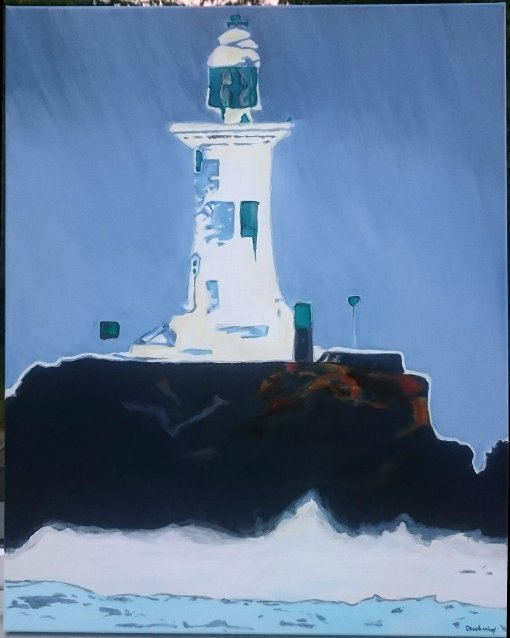 Meringue, 100 x 80 cm, Acryl auf Leinwand