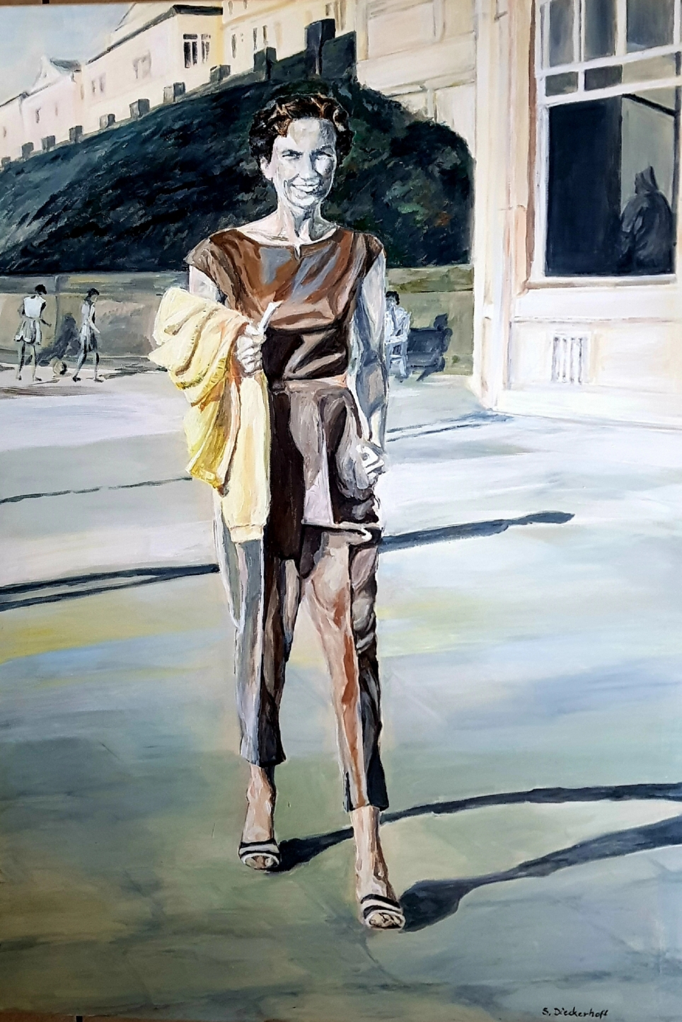 Ingeborg Tönnies, Borkum 1953, 100 x 80 cm, Acryl auf Leinwand