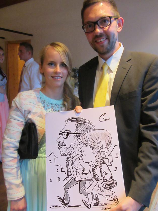Karikatur & Schnellzeichnen Hochzeit