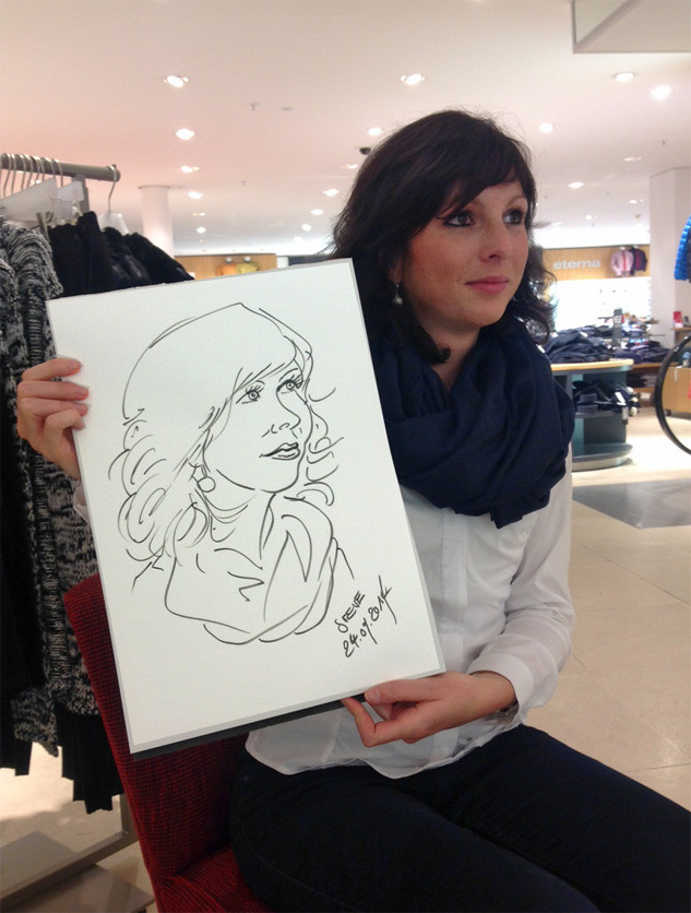 Karikatur & Schnellzeichnen Modehaus