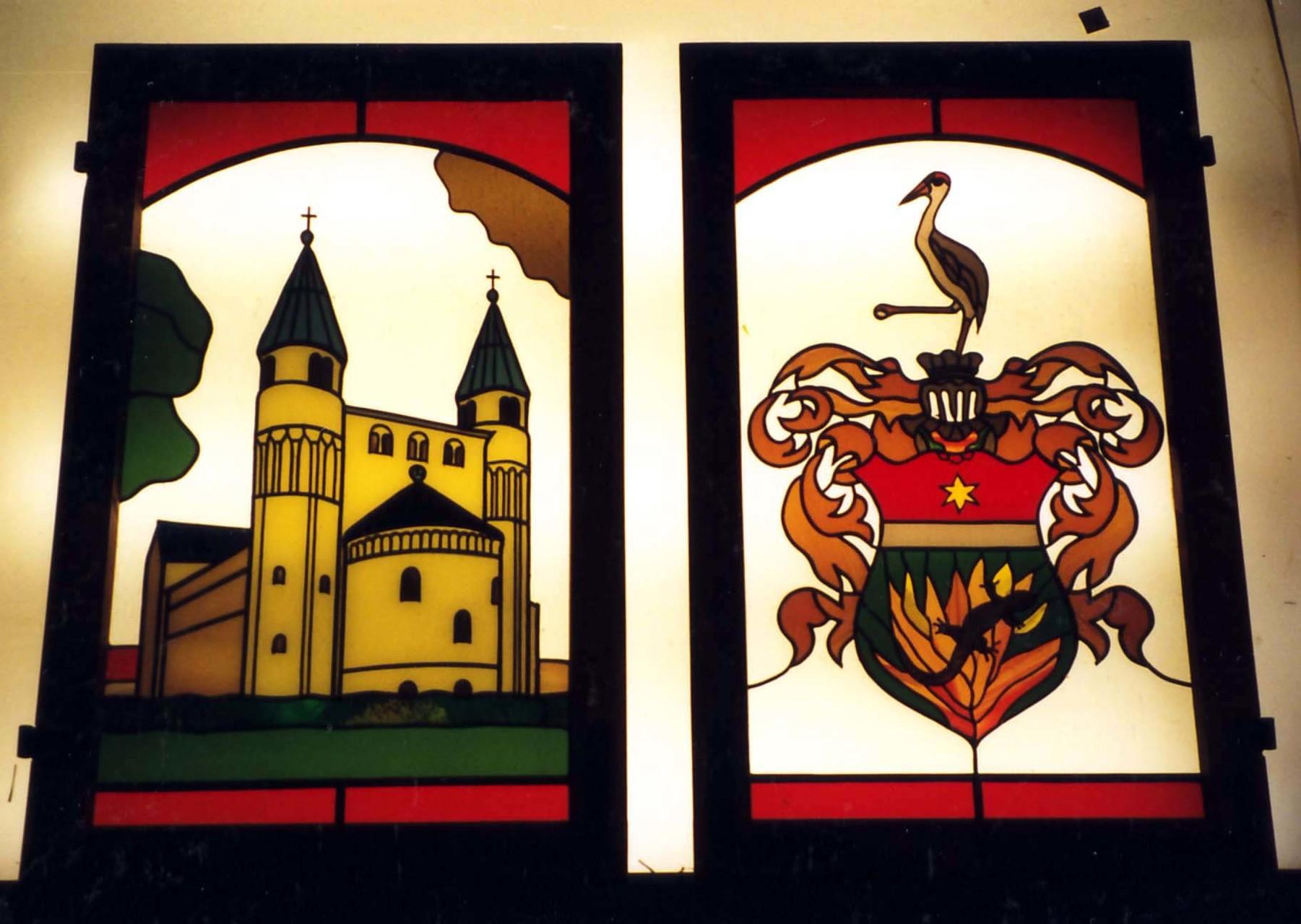 Stiftskirche St. Cyriacus Gernrode u. Familienwappen