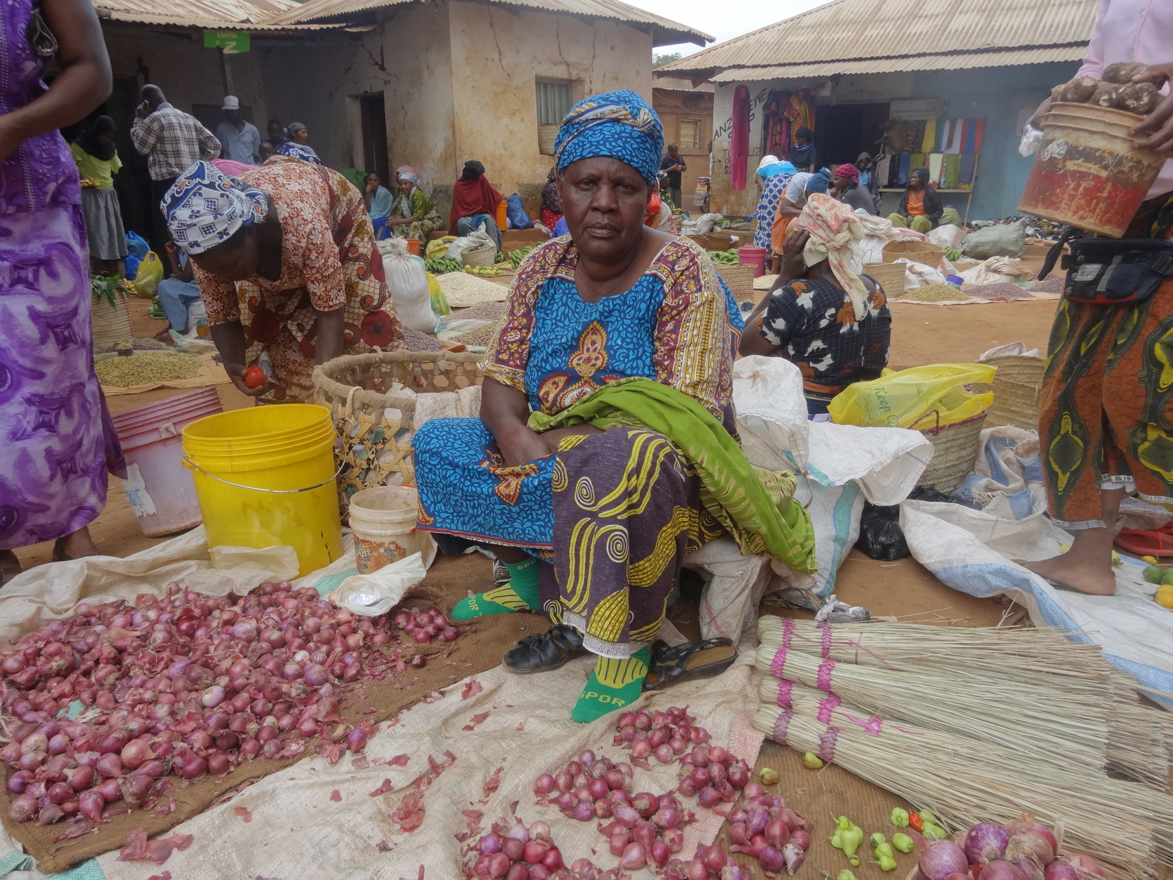 Mama auf dem Markt