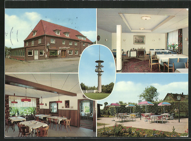 Langenrehm Hotel Ernst August Aussen- und Innenansichten von 1975