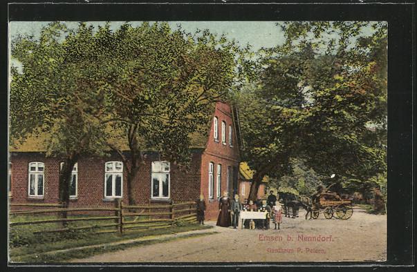 Emsener Gasthaus am Rader Weg um 1911