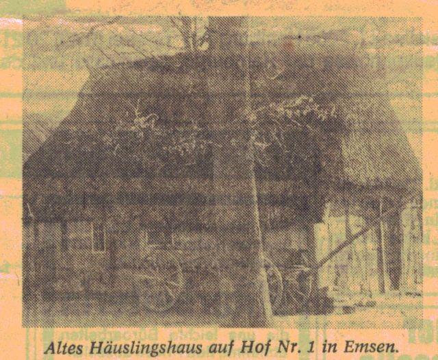 Altes Häuslingshaus (Hof Aldag) aus dem 18. Jahrhundert steht heute im Kiekebergmuseum