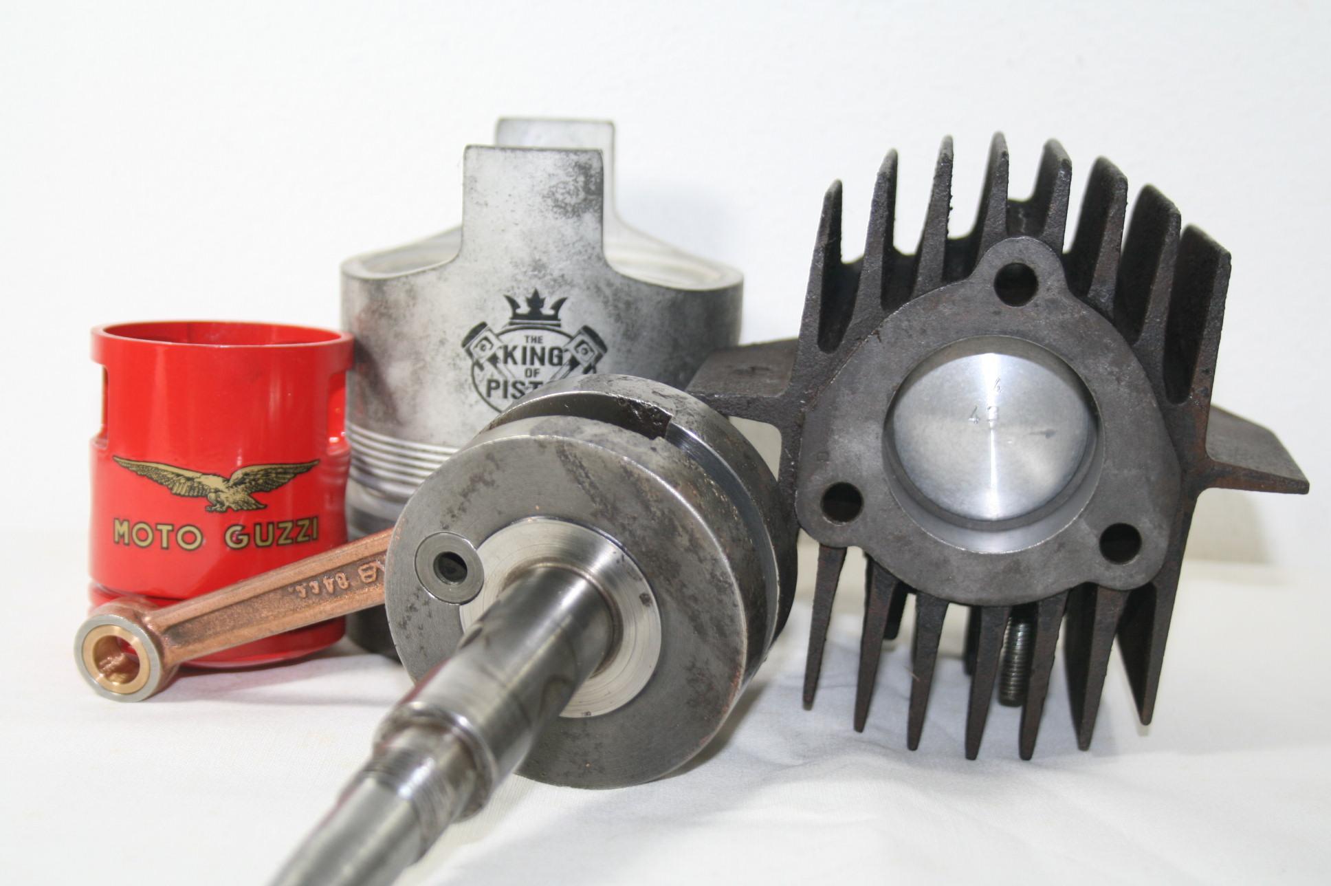 Albero motore e pistone Guzzino