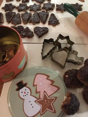 De la pâtisserie pour nous donner l'esprit de Noël ....  Oui mais crue
