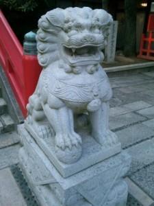 赤間神宮狛犬01(阿形)