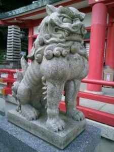 赤間神宮狛犬02(吽形)