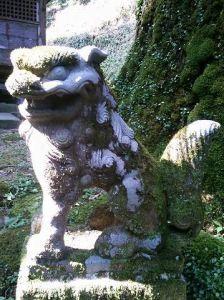 後鳥羽神社狛犬01(阿形)