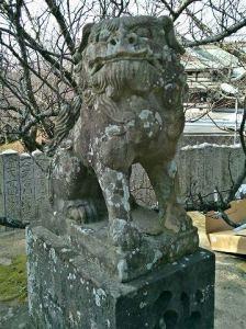 宮地嶽神社狛犬02(吽形)