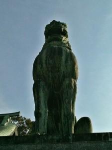 宮地嶽神社狛犬01(阿形)