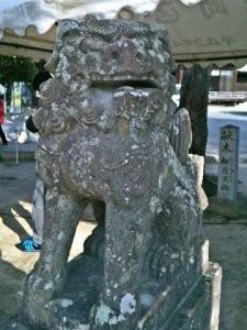 宮地嶽神社狛犬02(阿形)