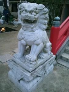 赤間神宮狛犬01(吽形)