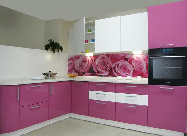 кухонные гарнитуры с розами фото растереть сахаром