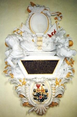 Epitaph für Feldmarschall Freiherr Georg von Derfflinger in Gusow