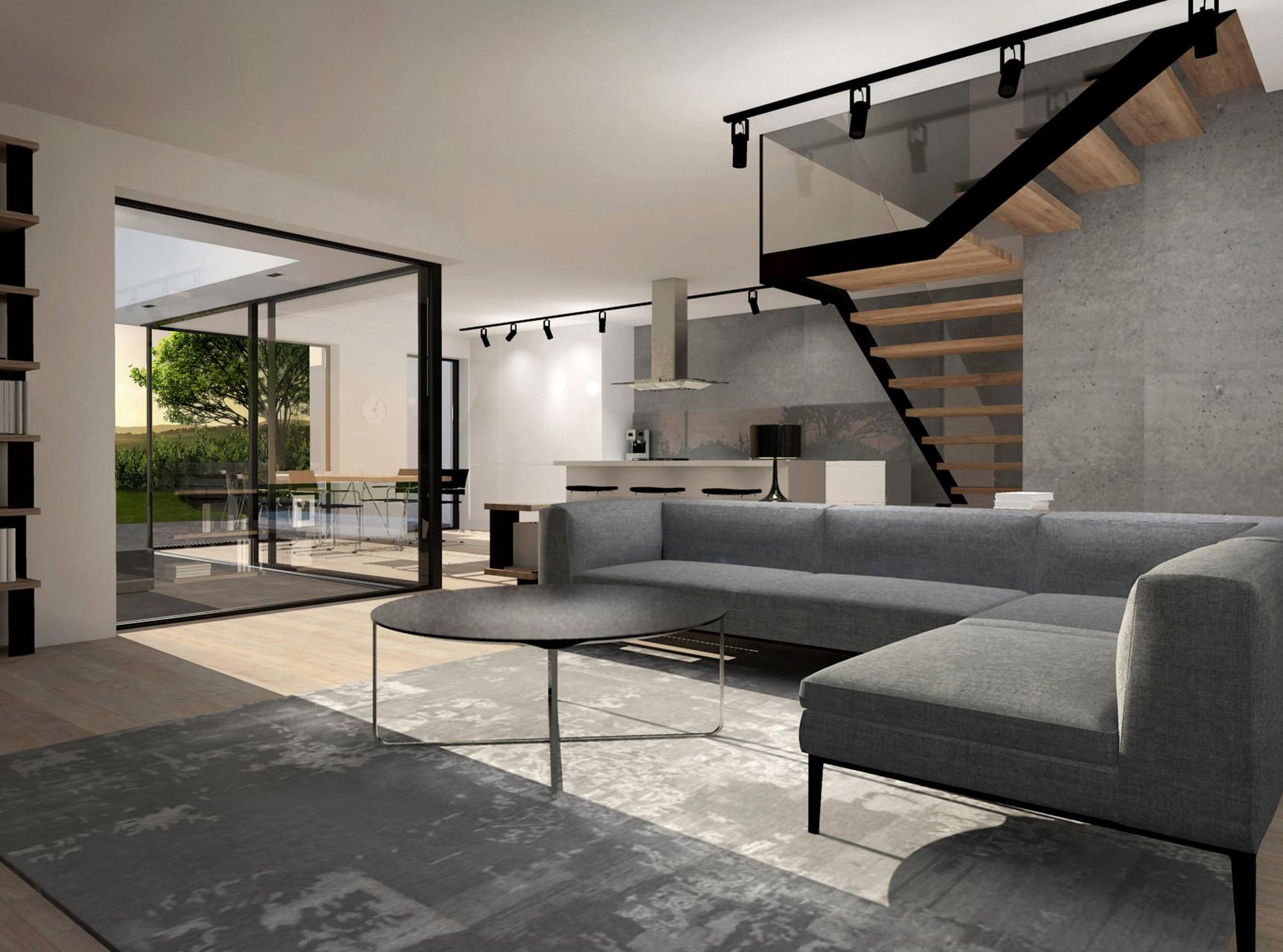 Einfamilienhaus L | Wohnzimmer