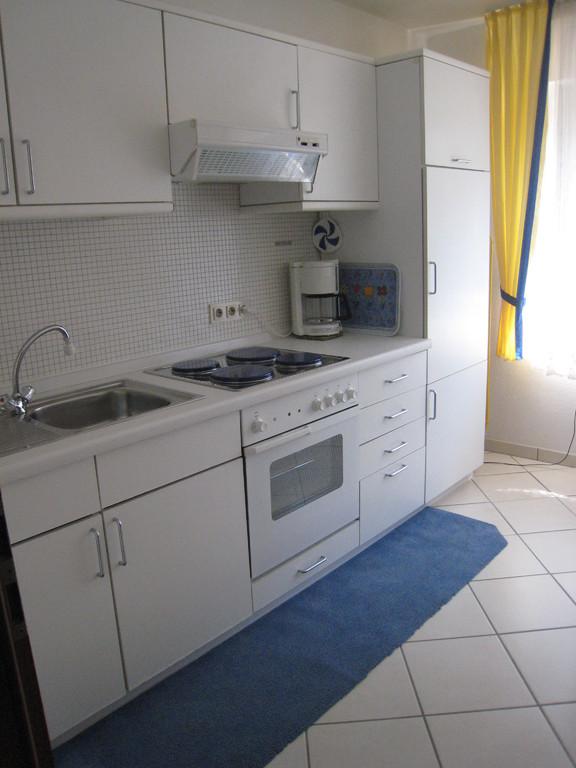 Küche mit EBK und Mikrowelle