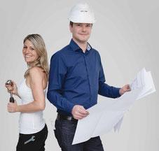 Jessica udn Peder Kerber, beides Techniker und Handwerker, kommen vom Fach und wissen welcher Job zu welcher Person passt