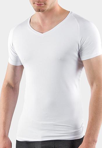Cremer Bambus Unterhemd für Herren mit klassischen V-Ausschnitt