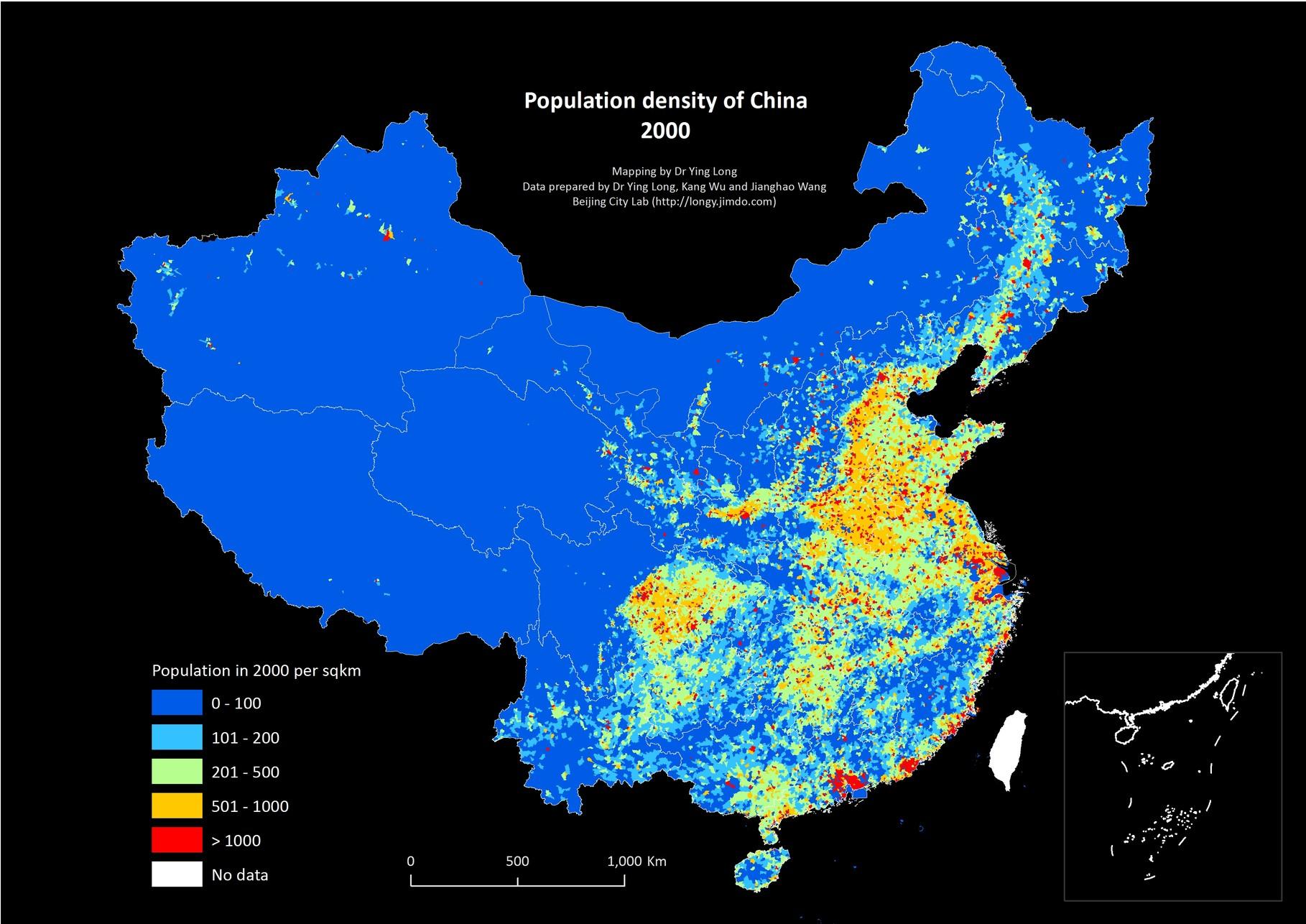 Population China Beijing City Lab