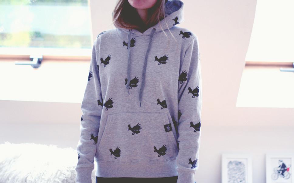 bobsmade crow pattern hoodie custom