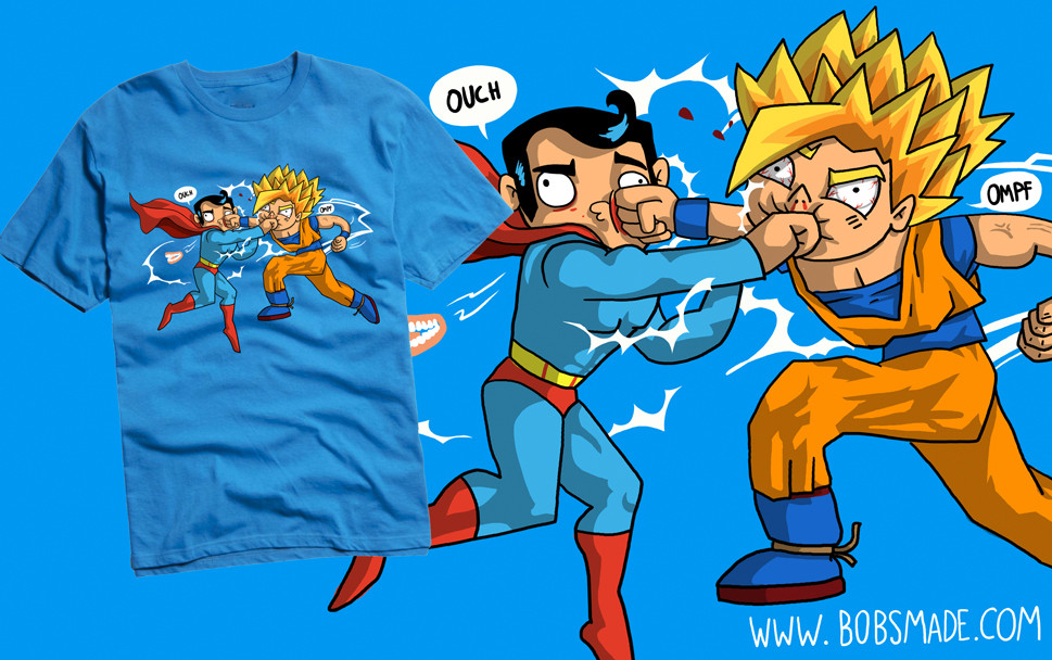 Goku Super Saiyan 1 Superman custom t-shirt by bobsmade