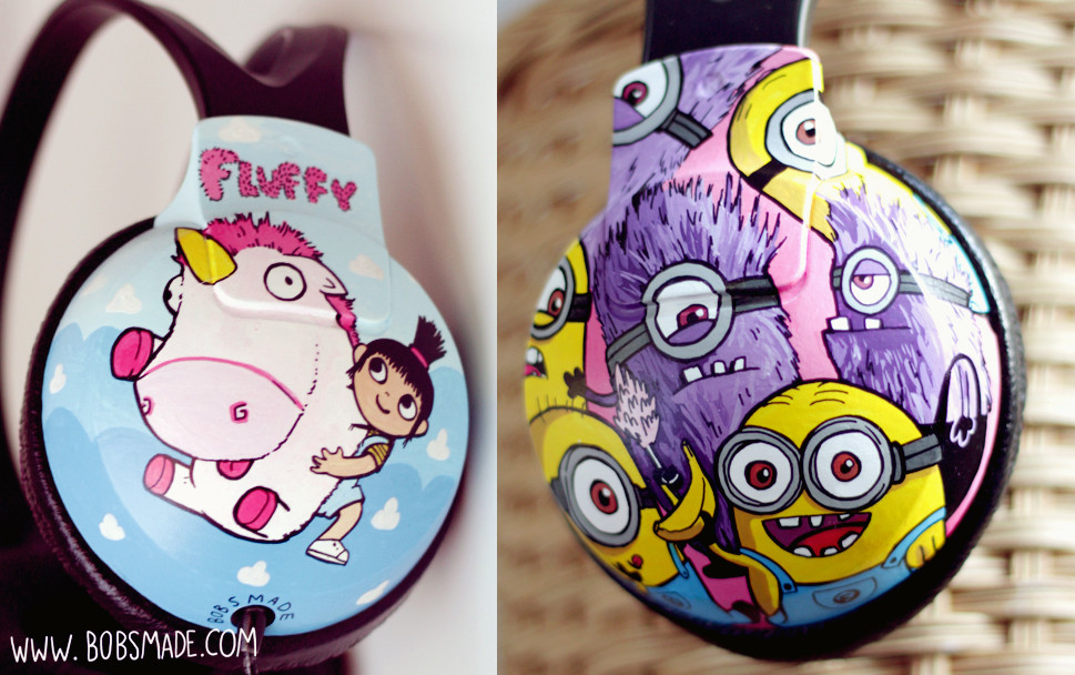 despicable me minions craft headphones customized  agnes by bobsmade