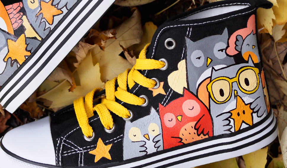 Owl Star Chucks