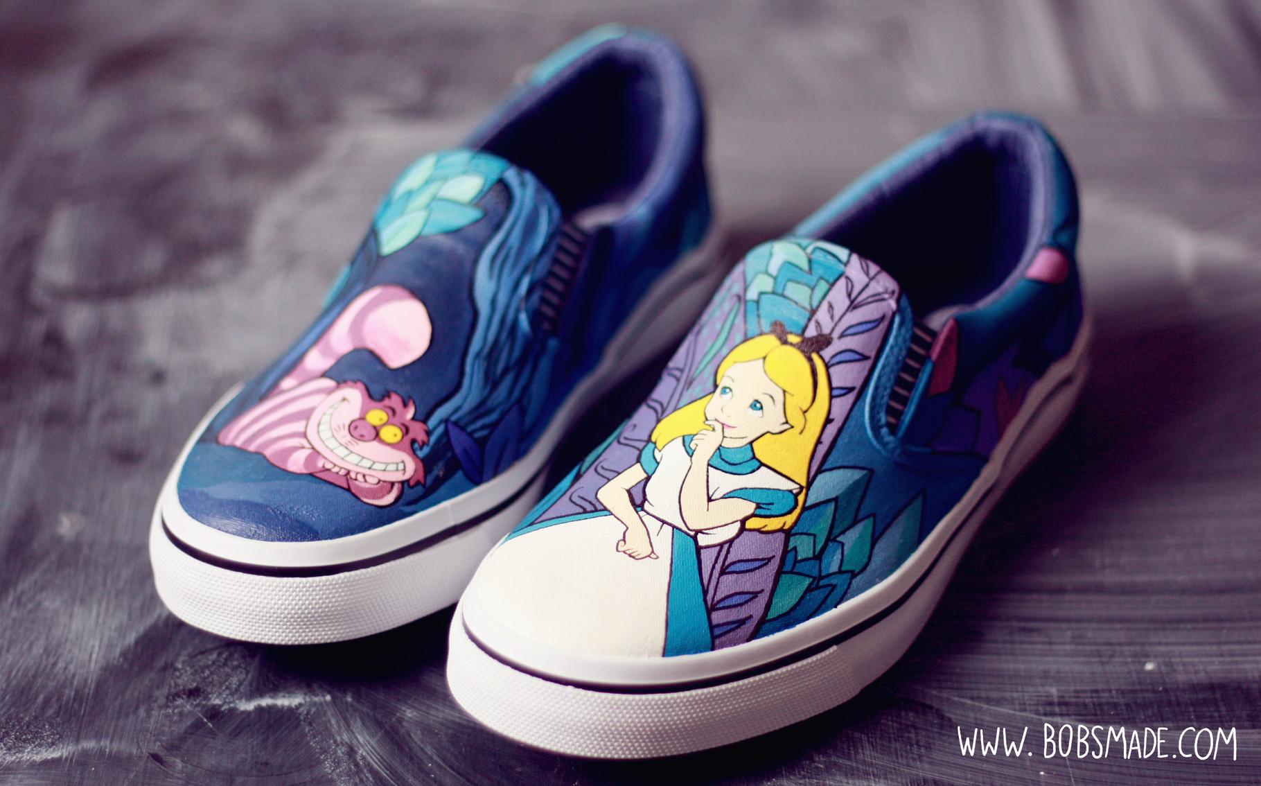 Alice in Wonderland Shoes - Art