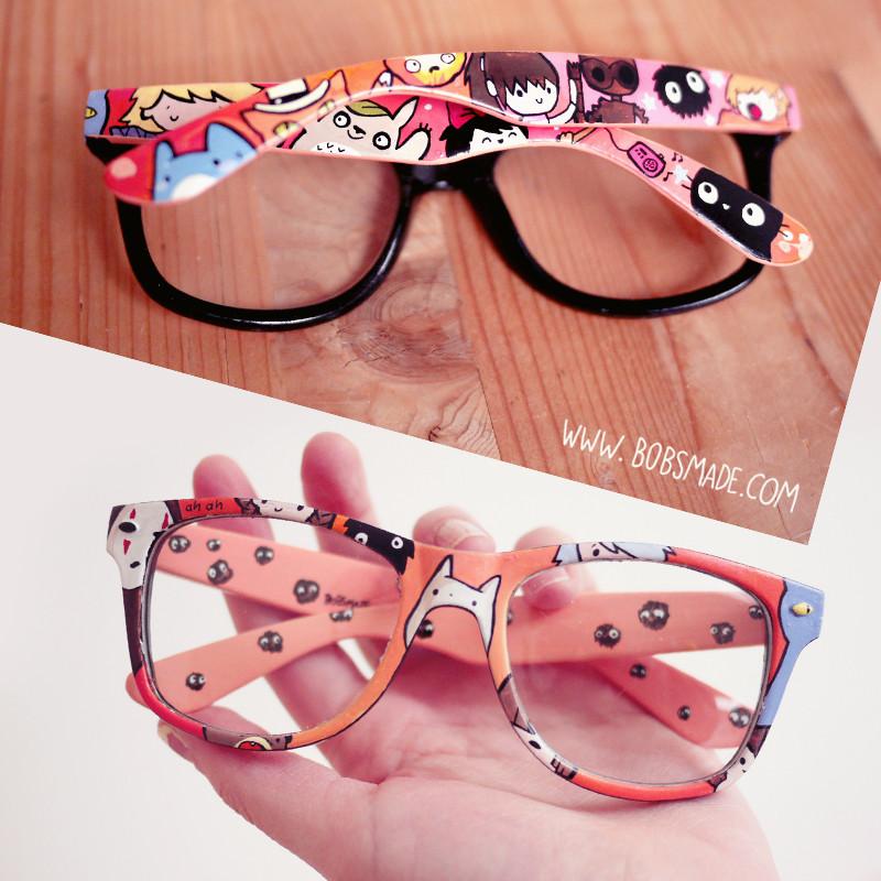 Ghibli custom painted wayfarer glasses by bobsmade