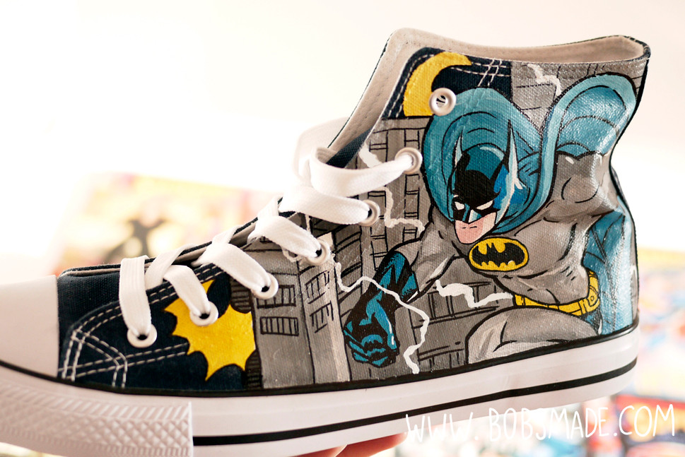 Batman Shoes custom painted by bobsmade.com
