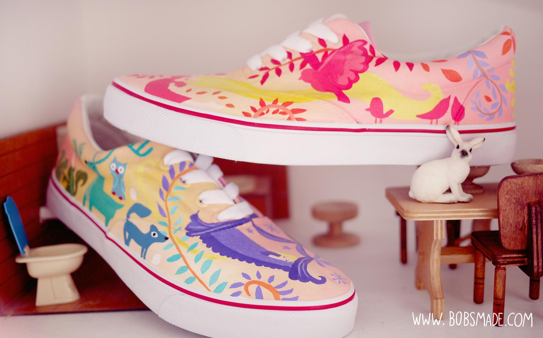 af7f359f58234 Tangled Wedding Shoes - Art & Custom Design