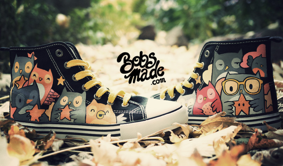 Fall 2013 Shoes custom owl Owl Star Chucks Bobsmade