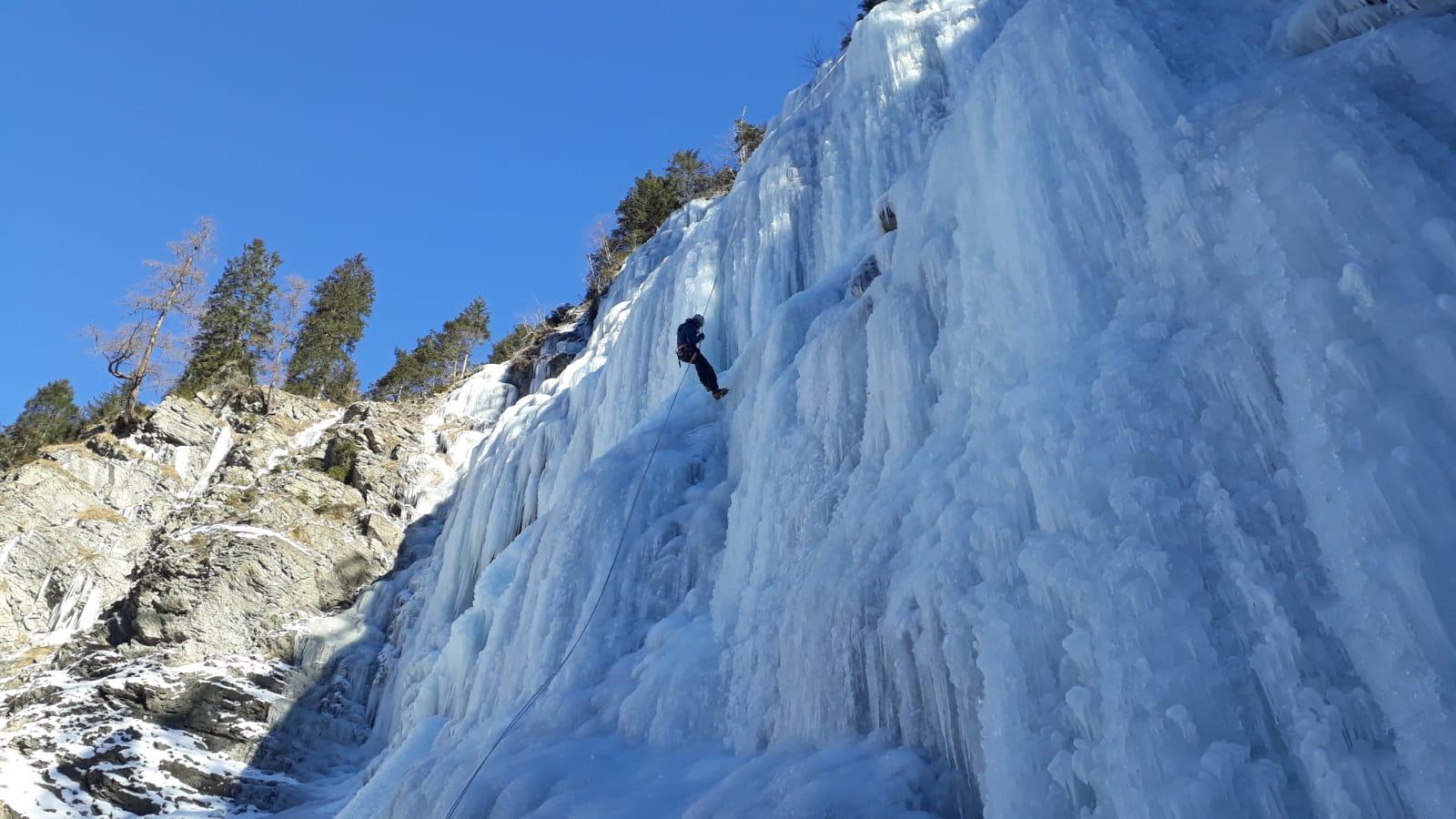 Perfekter Eisfall im Lechtal
