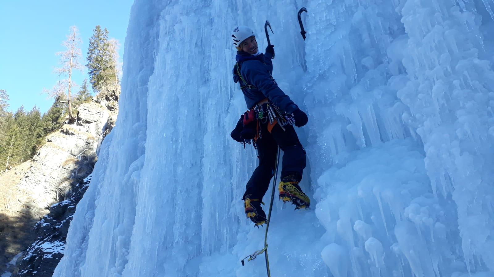 Eisklettern im Lechtal