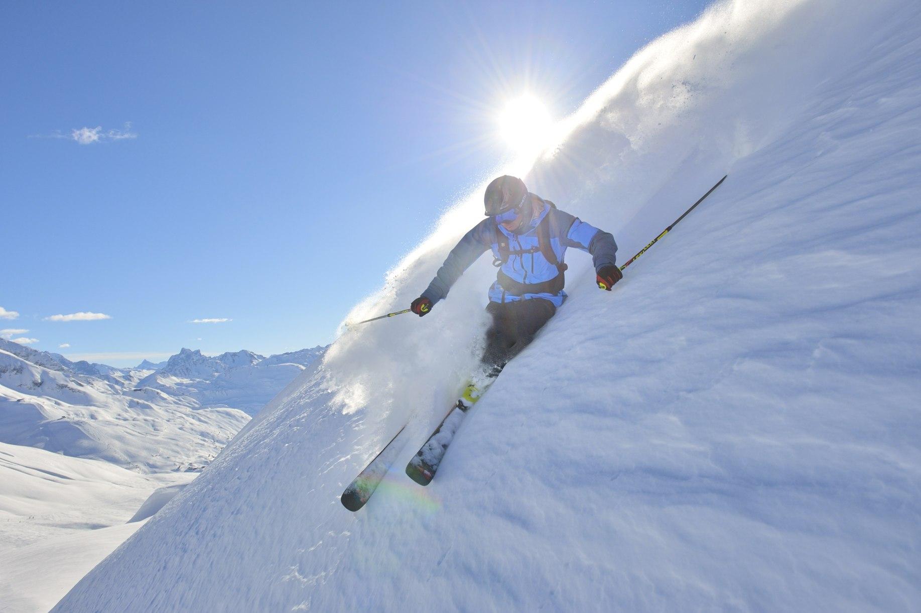 Perfekter Tiefschneetag am Arlberg