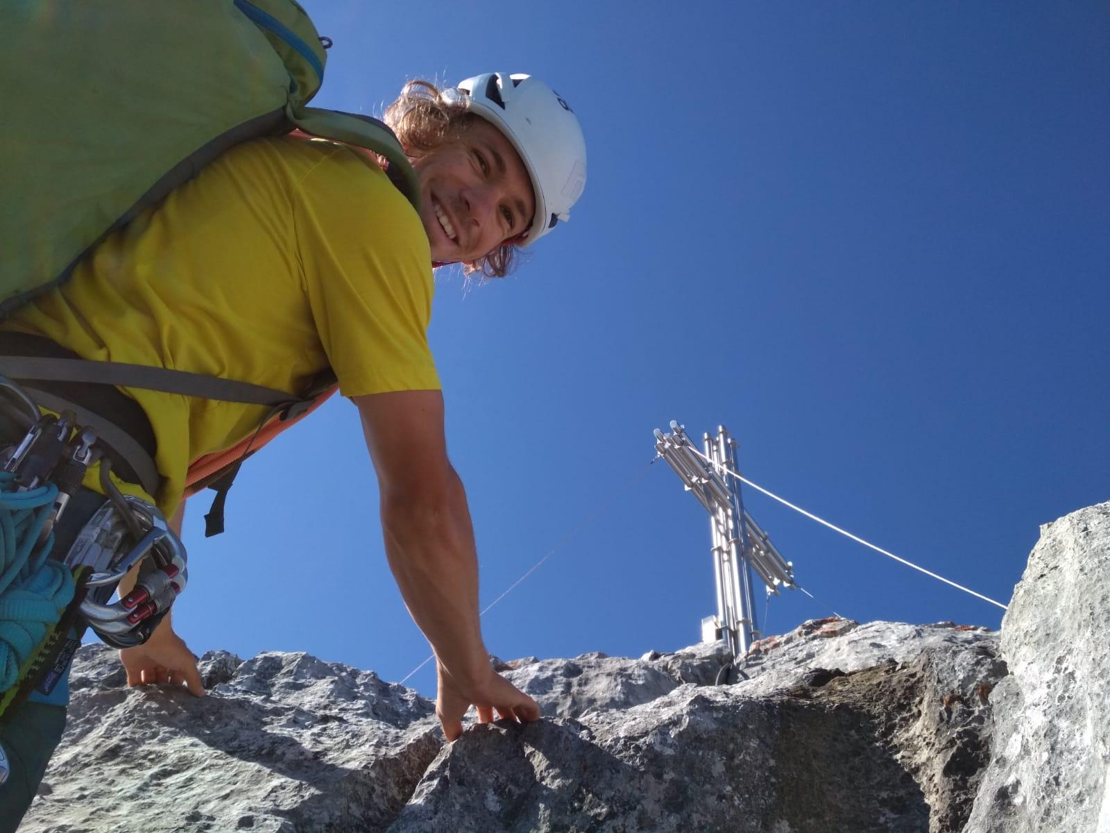 Die letzten Meter zum Fleischbank Gipfel