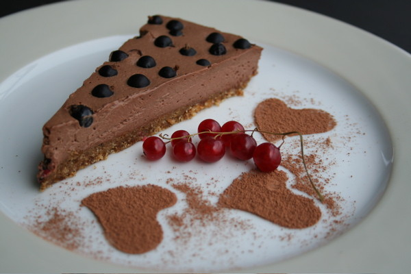 Chocolate Mousse Tarte au Cassis
