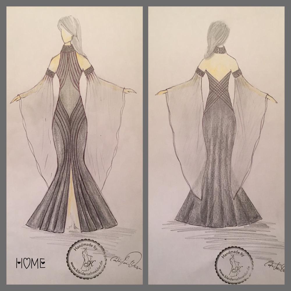 Lena Meyer Landhut Design Kleid Entwurf Catrin Soreia Ohlsen