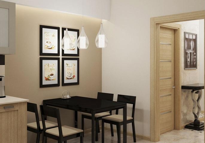 Дизайн интерьера квартиры на ул. Орджоникидзе. Кухня