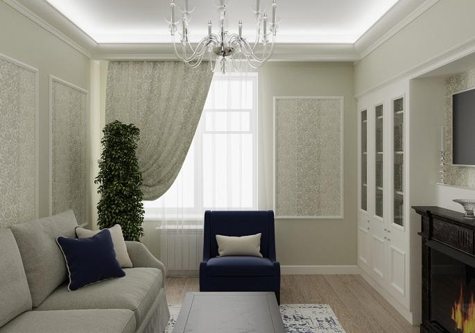 Дизайн интерьера квартиры на Московском пр. Гостиная