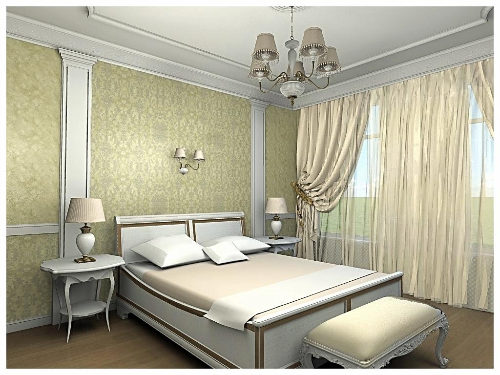 Дизайн интерьеров квартиры в дворцовом стиле. Спальня .