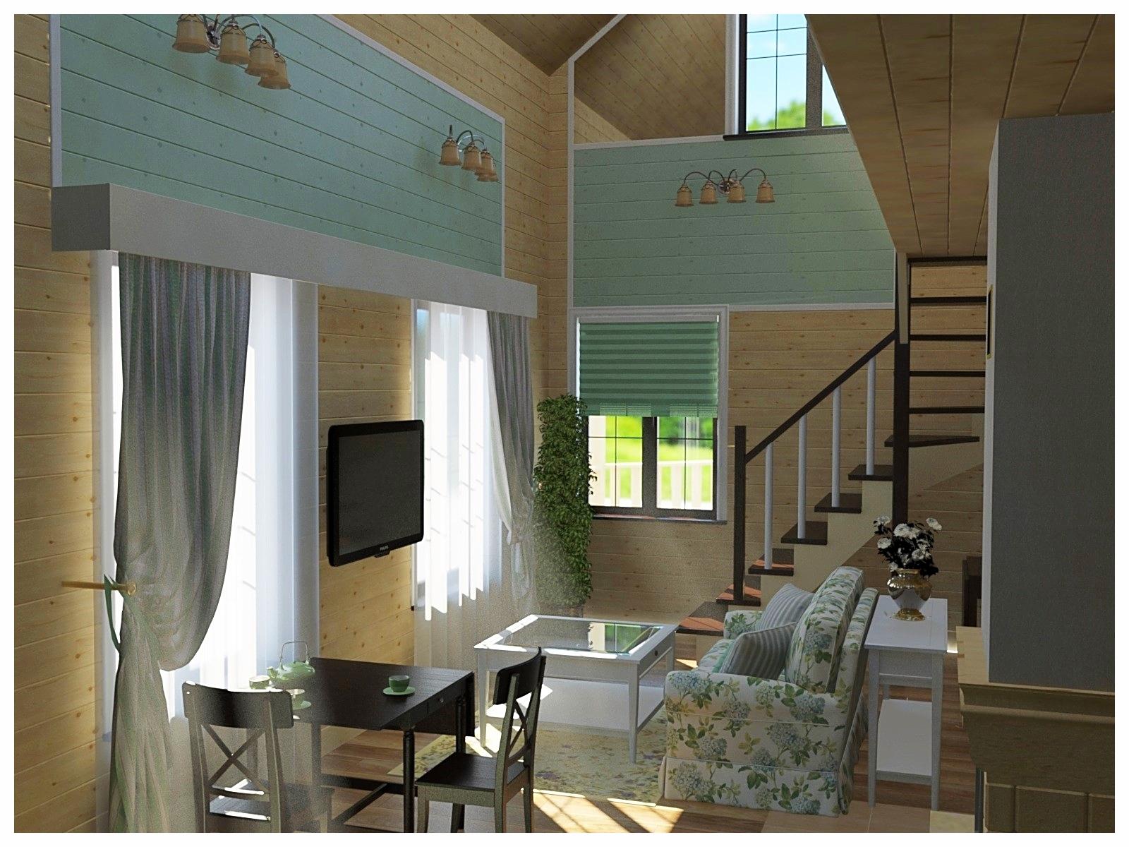Дизайн интерьеров по договору на дизайн проект небольшого коттеджа 3.